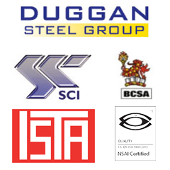 Duggan Steel Group Accreditation logos